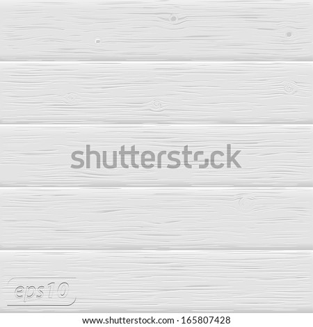 White wood texture - stock vector