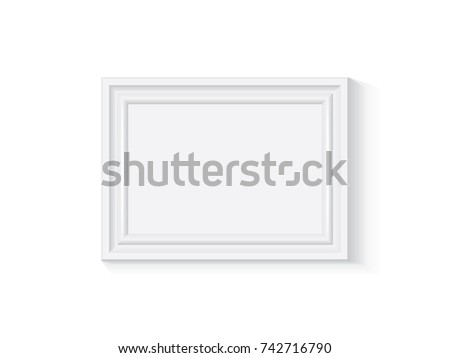 White Wooden Plastic Frame Easy Change Stock Vector 742716790 ...