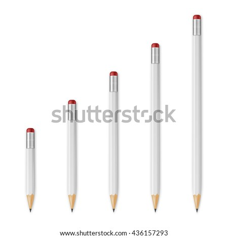 White wooden sharp pencils