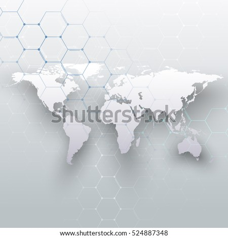 White dotted world map connecting lines vectores en stock 552899188 white world map connecting lines and dots on gray color background chemistry pattern gumiabroncs Choice Image