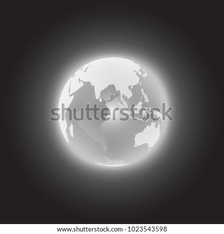 white world on dark background