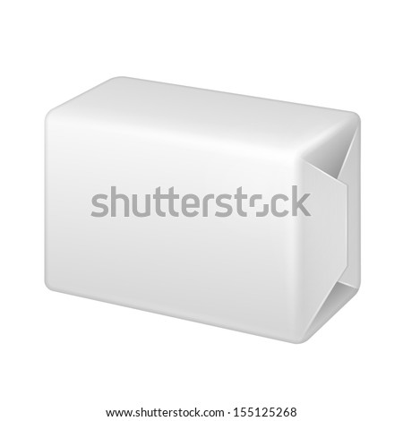 White Wrap Package Bundle Box. Packaging For Parcel Post,  Food, Gift Or Other Products. On White Background Isolated. Ready For Your Design. Product Packing Vector EPS10 - stock vector