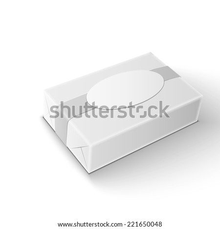 White wrap package for new design on white background