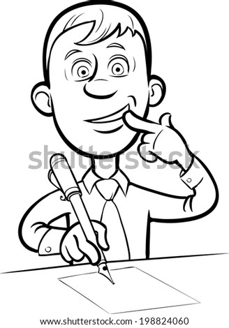 Stock images similar to id 82222651 cartoon surprised for Easy whiteboard drawings
