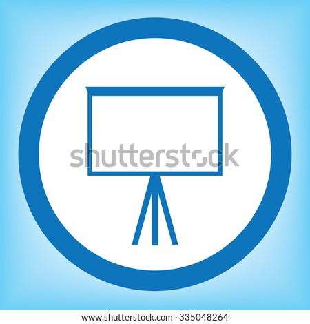 Whiteboard Icon - stock vector