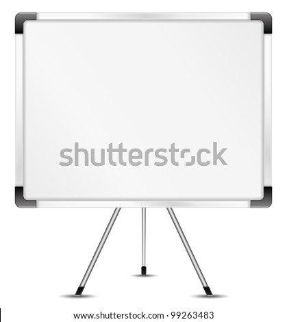Whiteboard, vector eps10 illustration