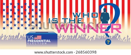 Who is the winner in United State of America Presidential Election. Present on banner size - stock vector