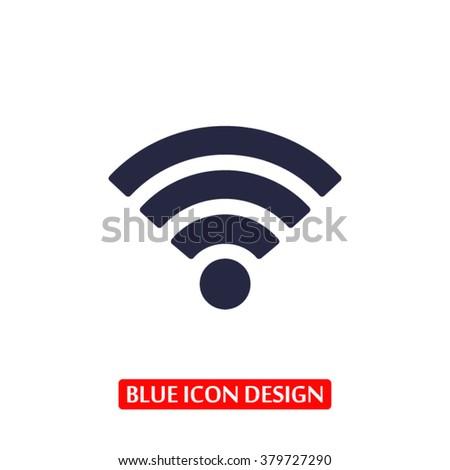 Wi fi Icon, Wi fi icon flat, Wi fi icon picture, Wi fi icon vect - stock vector