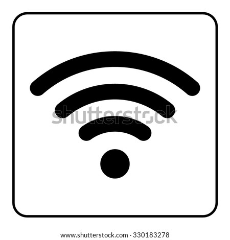 Wi-Fi icon. Wireless black sign isolated on white background. Network Symbol. Internet Emblem for business or commercial use. Stock vector illustration. You can change color and size - stock vector