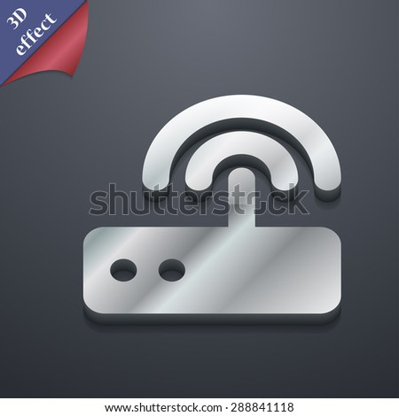 Wi fi router icon symbol. 3D style. Trendy, modern design with space for your text Vector illustration - stock vector