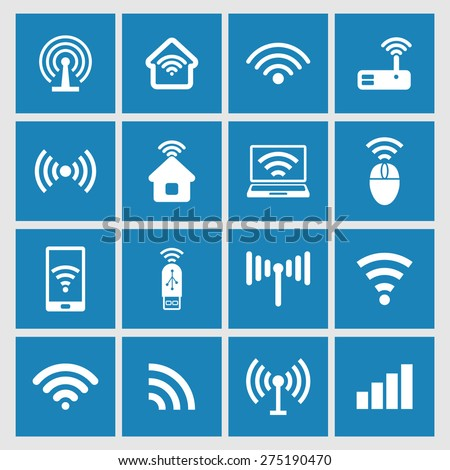 Wi-fi signal icons - stock vector