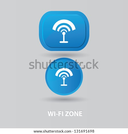 Wi-fi zone sign,vector - stock vector
