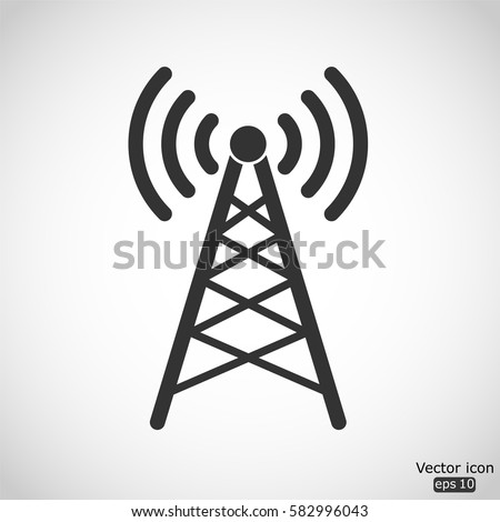 Wi if tower vector icon