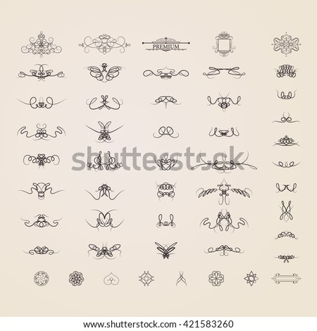 Wicker lines old decor elements vector stock vector 419660092 wicker lines and old decor elements in vector vintage borders frame and rosette in junglespirit Choice Image