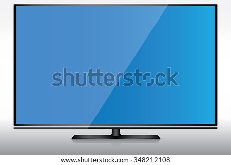 Wide screen LED television.