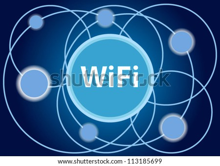 WiFi blue background business concept