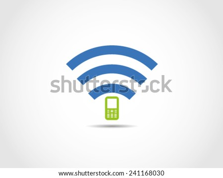 Wifi Cellular - stock vector