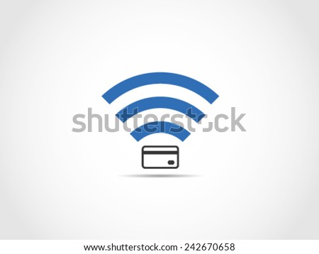 Wifi Credit Debit Card - stock vector