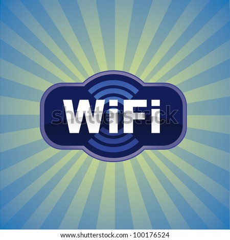 WiFi glossy vector icon - stock vector