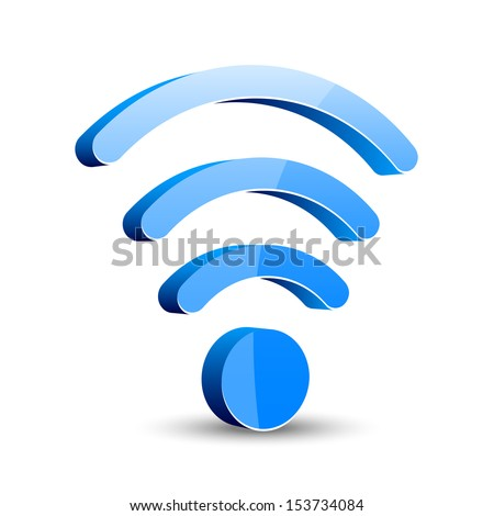 wifi icon  - stock vector