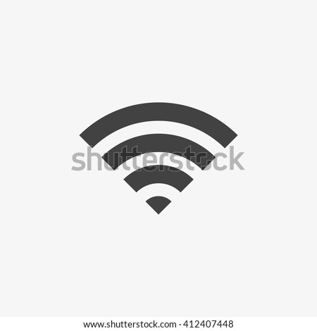 Wifi Icon in trendy flat style isolated on grey background. Wireless network symbol for your web site design, logo, app, UI. Vector illustration, EPS10. - stock vector