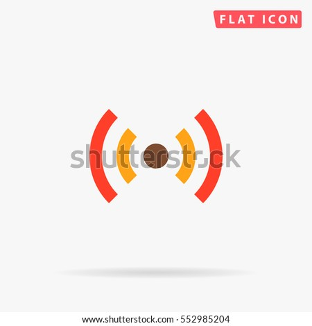 WiFi Icon Vector. Flat color symbol on white background with shadow