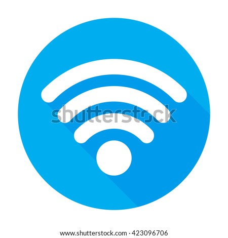 Wifi Icon Vector Flat Network Signsymbol Stock Vector 423096706