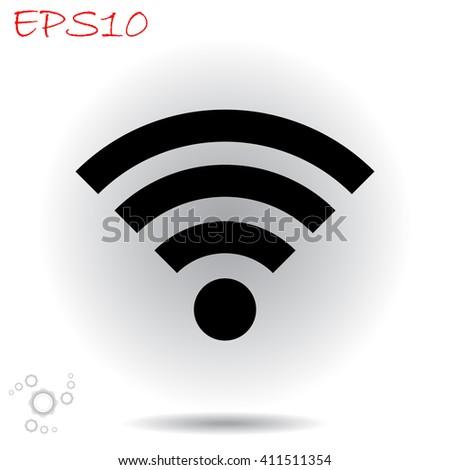 Wifi icon. Wifi vector. Wifi illustration. Wifi icon logo. Wifi icon Eps10. Wifi icon web. Wifi icon sign. Wifi icon art. Wifi icon image. Wifi icon UI. Wifi icon flat. Wifi icon eps. - stock vector