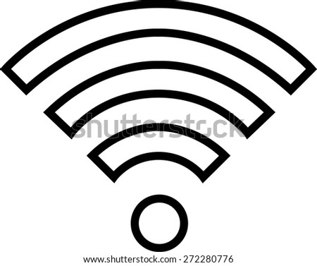 Wifi Outline Symbol On White Background 272280776