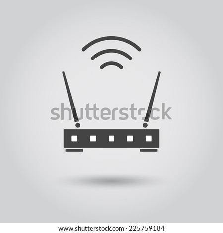 wifi router - stock vector