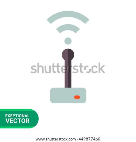 Wifi router icon - stock vector