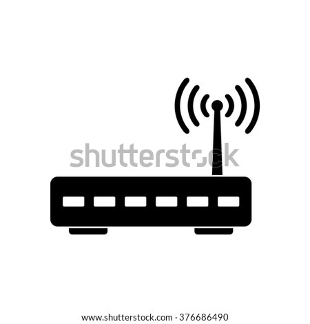 Wifi router icon . Vector illustration - stock vector