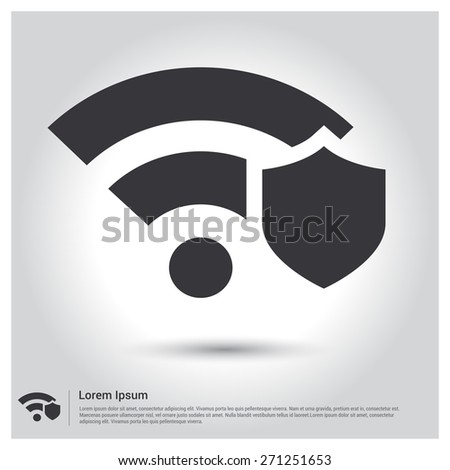 Wifi security locked security icon pictogram stock vector wifi security locked security icon pictogram icon on gray background vector illustration for web voltagebd Choice Image