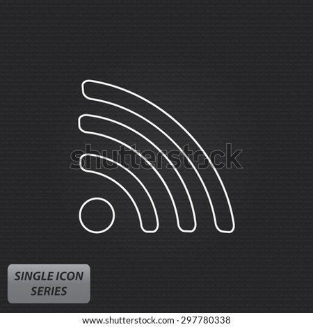 WiFi Signal - Single Icon Series - stock vector