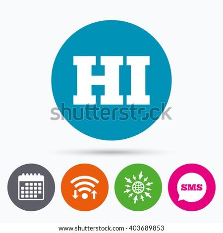 Wifi sms calendar icons hindi language stock vector 403689853 wifi sms and calendar icons hindi language sign icon hi india translation symbol ccuart Image collections