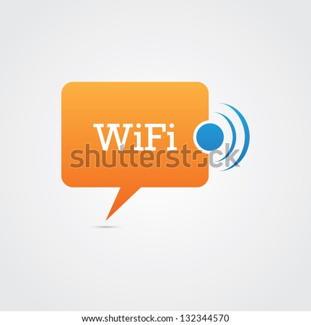 Wifi Speech Bubble - stock vector