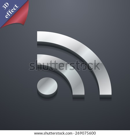 Wifi, Wi-fi, Wireless Network  icon symbol. 3D style. Trendy, modern design with space for your text Vector illustration - stock vector