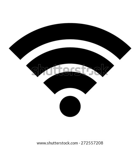 Wifi wireless internet signal or wifi internet connection flat icon for apps - stock vector