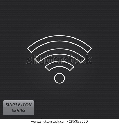 WiFi - Wireless Network Symbol - Single Icon Series - stock vector