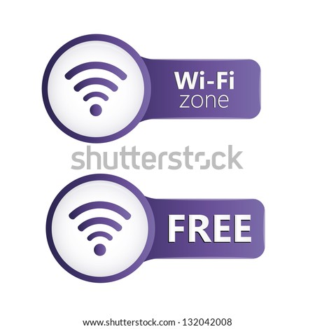 Wifi zone icons - stock vector