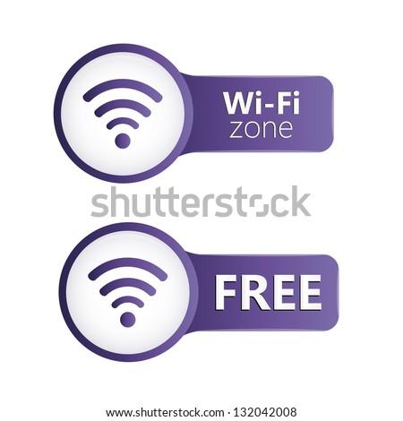 Wifi zone icons - stock vector