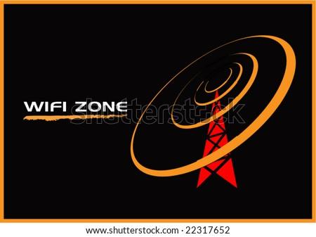 wifi zone illustration - stock vector