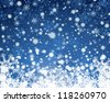 Wiinter background with snowflakes elements. Fully editable EPS 8 vector version. - stock vector