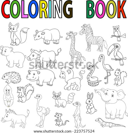 Pictures To Color Of Wild Animals