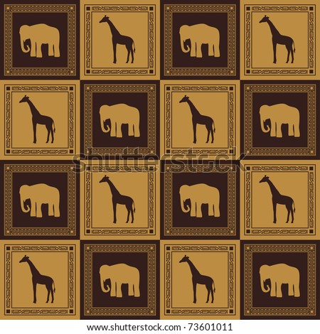 Wild animal seamless pattern - stock vector