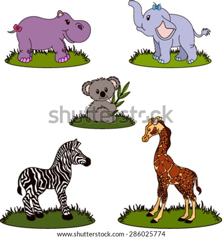 Wild Animals Collection - stock vector