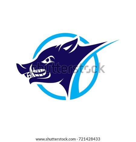 wild boar logo stock vector 721428433 shutterstock rh shutterstock com boat logo design bar logo