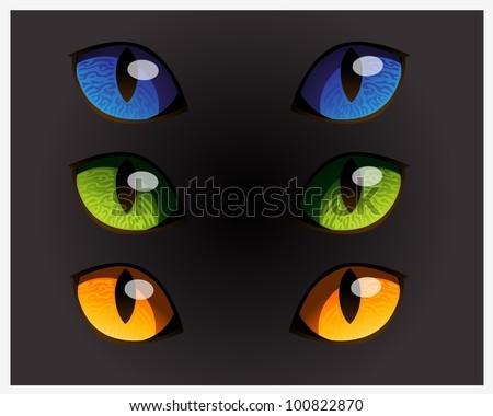 Wild Cat Eyes - stock vector
