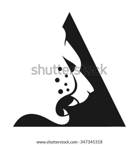 wild life predator logo template. logo vector of cheetah. - stock vector