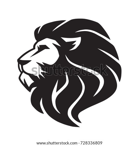 wild lion vector icon logo template stock vector 728336809